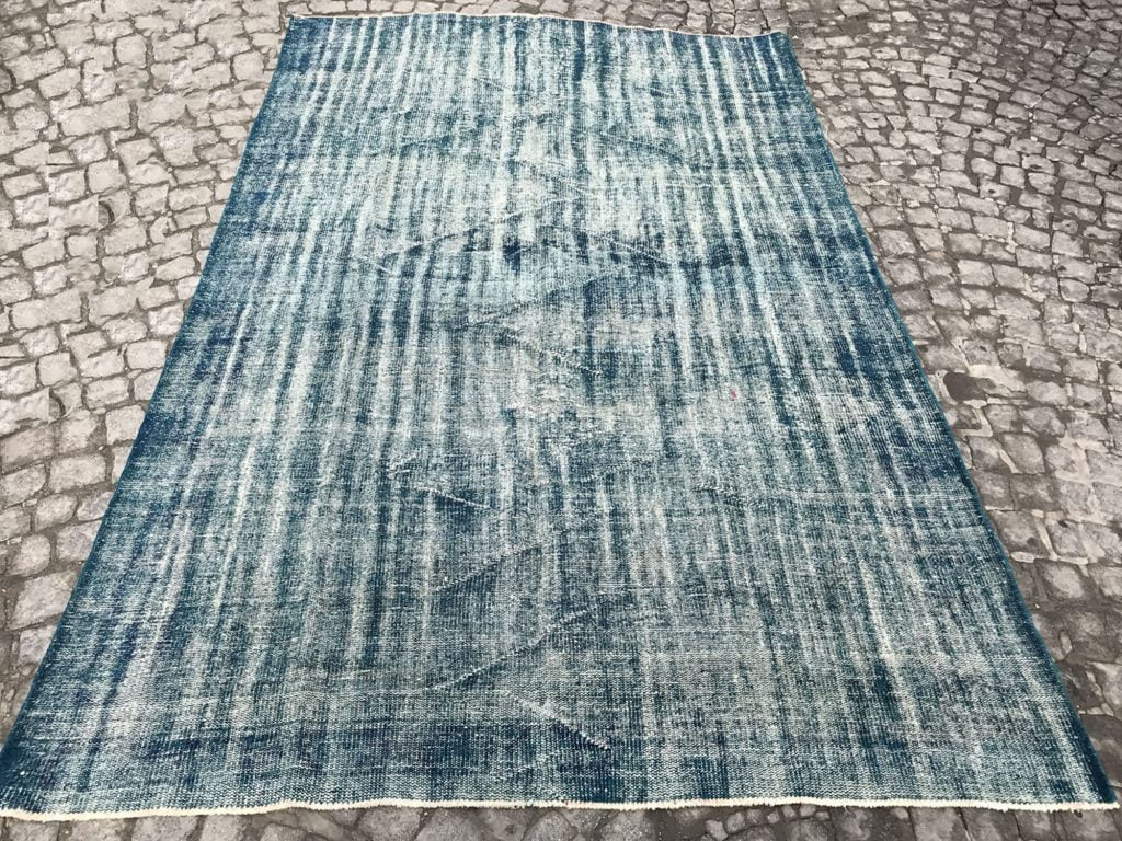 blue oushak rugs