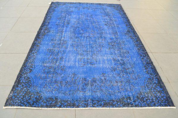 blue overdyed rug