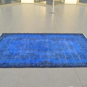 blue overdyed rugs