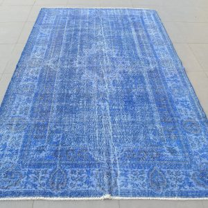 blue turkish rug