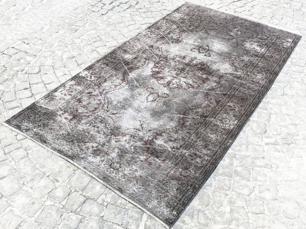 gray overdyed rug