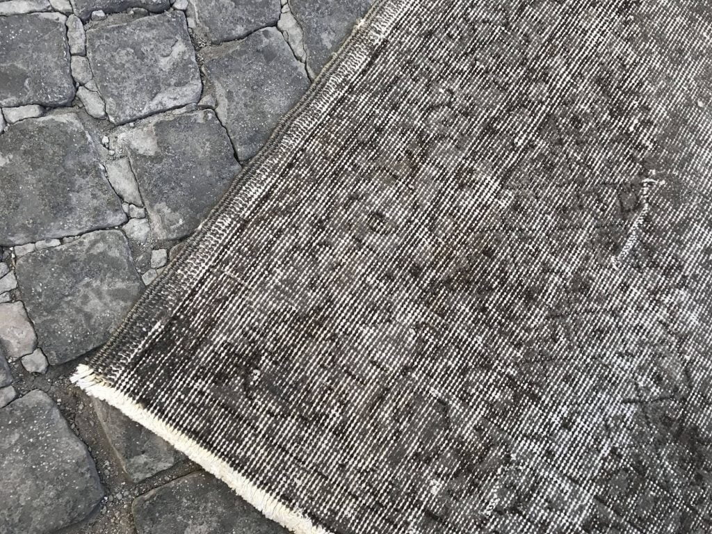 grey overdyed rug