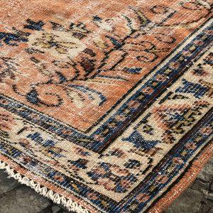 orange blue rug