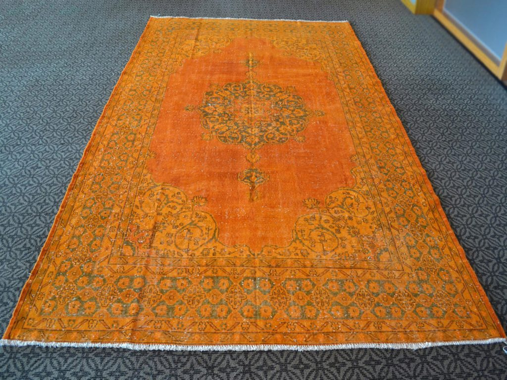 orange overdyed rug