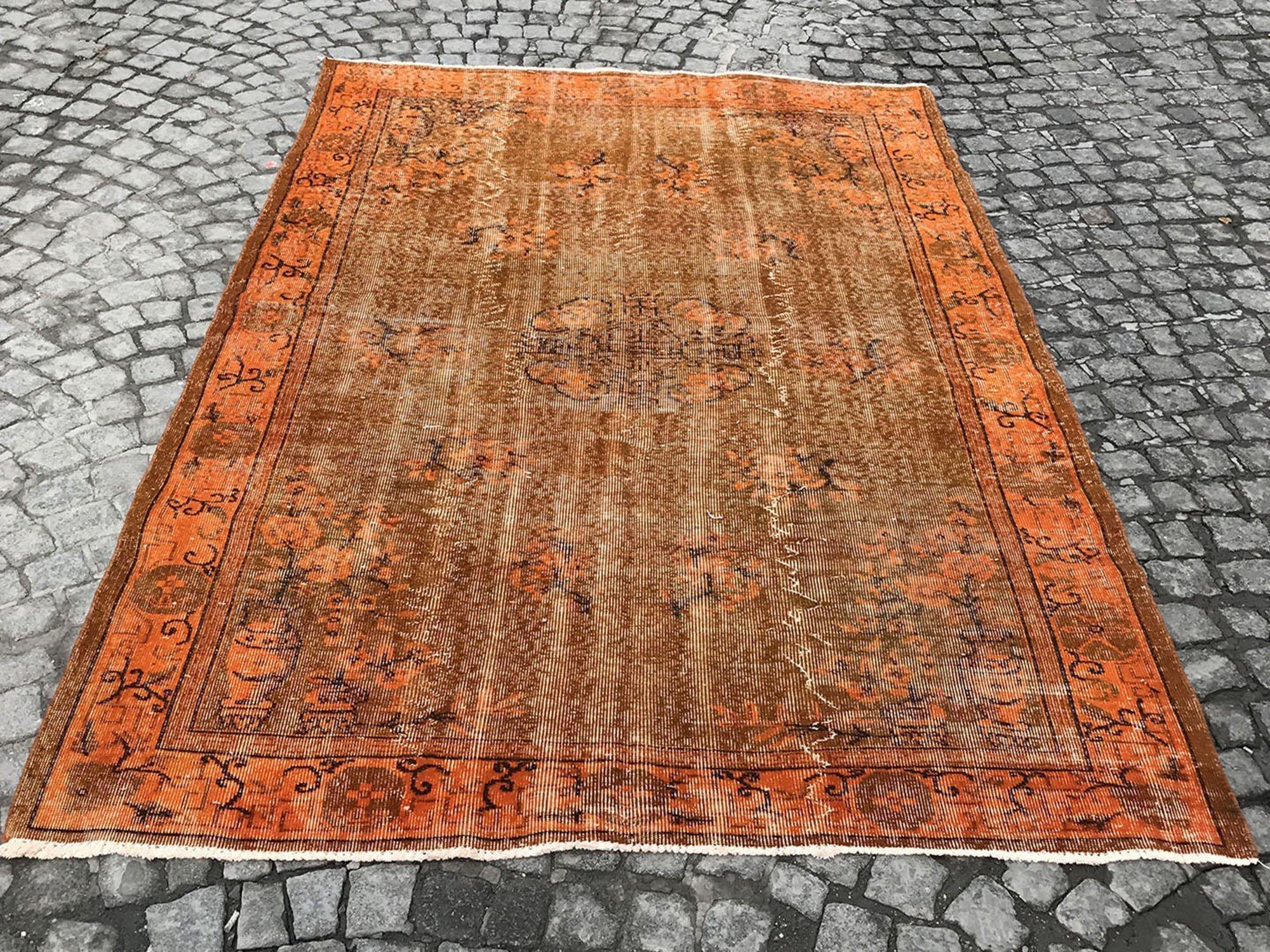 Orange Vintage Rug