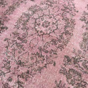 vintage pink rug