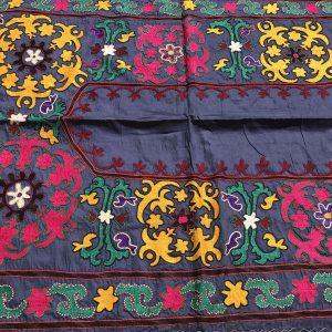 blue suzani fabric