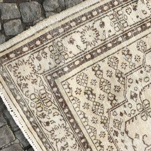 beige oushak rug