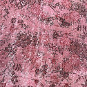 floral pink rug