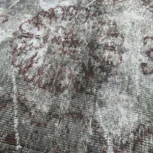 gray overdyed rug
