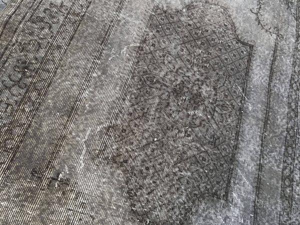 grey overdyed rug