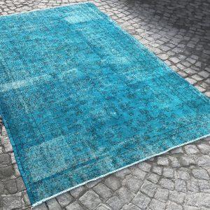 handmade blue rug