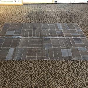 hemp patchwork rug