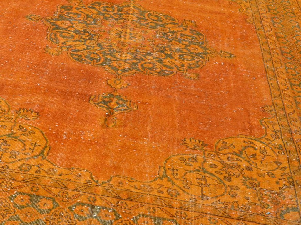 orange overdyed rug