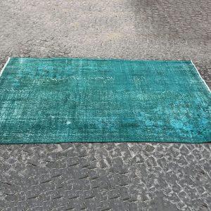 turquoise vintage rug