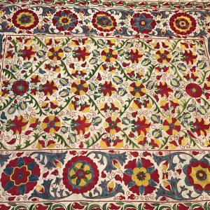 colorful silk suzani
