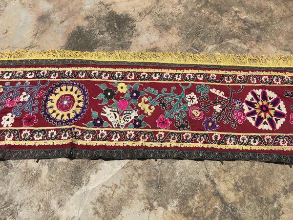 crochet silk runner