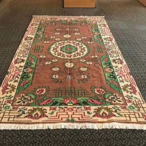 brown oushak rug