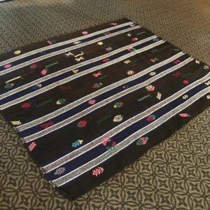 black kilim rug
