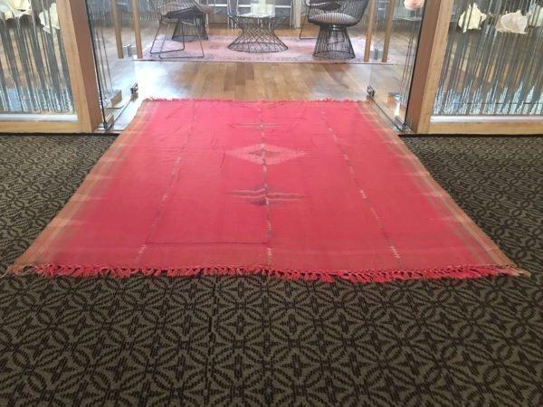 pink kilim rug