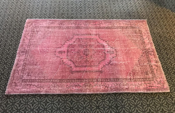 pink oushak rug